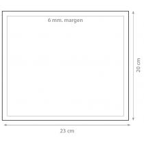 Dorsal 20x23cm