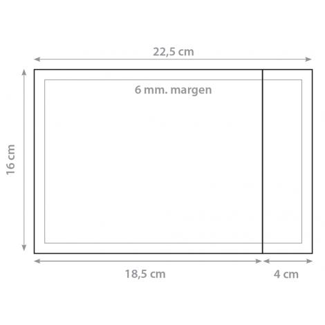 Dorsal 16x22,5cm