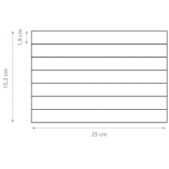 Dorsal 15,2x25cm